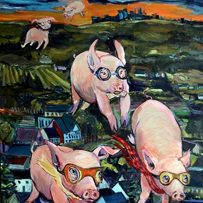If Pigs Could Fly Aviator by Janice Ykema
