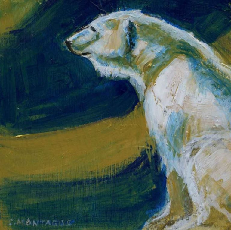 Northern Lights Bear by Christine Montague