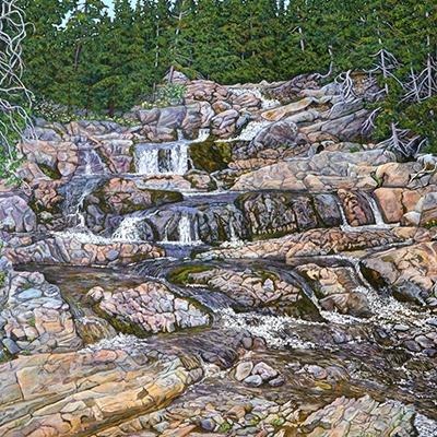 Rattling Brook Falls by Lynden Cowan