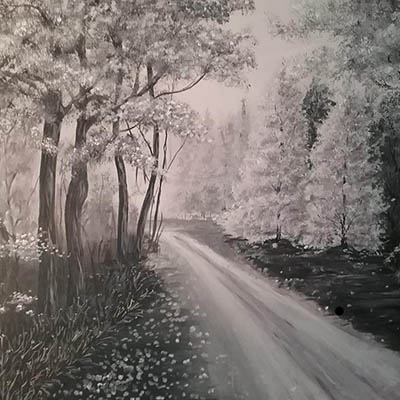 Black & White Drive by Ellie Ruddle