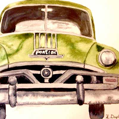 Helen Duplassie - Green Pontiac