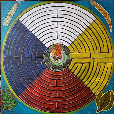 Labyrinth Medecine Wheel by Lauraine Lapointe Paradis