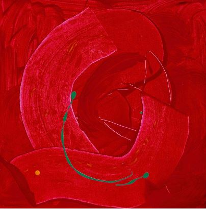 Red Spiral by Gwen Tooth