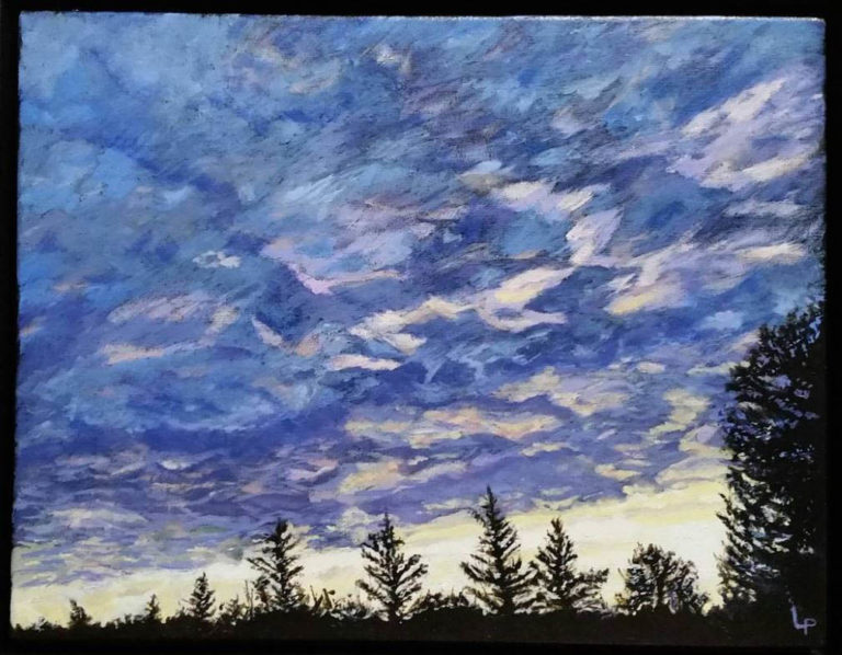Sky Over Whole Village by Lauraine Lapointe Paradis