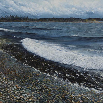 Waterscape, WInd, Waves And Rocks - Lynne Schumacher