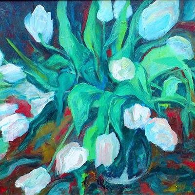 White Tulips by Sueda Akkor